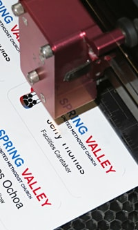 namtags being engraved