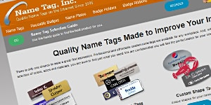 Coller Industries' Nametag Site