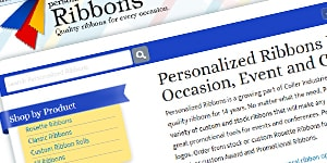 Coller Industries' Personalized Ribbons Site